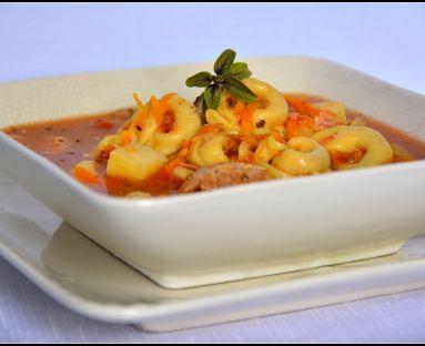 Włoska zupa tortellini na żeberkach