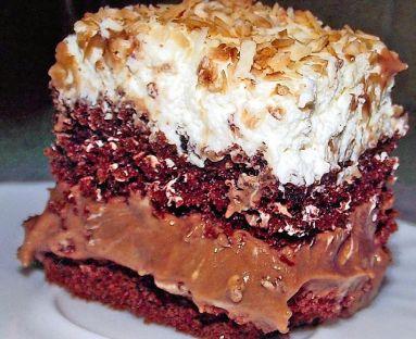 Ciasto czekoladowe z pianką kokosową