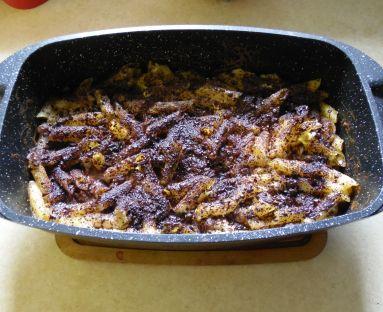 Zapiekanka makaronowa z białym serem na słodko