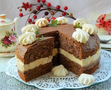 czekoladowo-chałwowa rozpusta z bezami