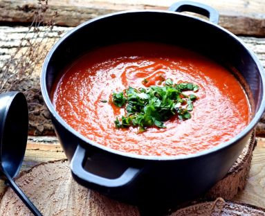 Zupa krem z pieczonych papryk
