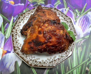 Ćwiartki z kurczaka pieczone w marynacie majonezowo - ketchupowo - malinowej