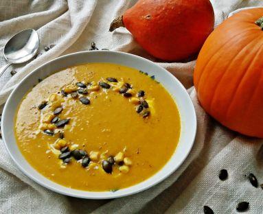 Dyniowo - kukurydziana zupa krem z nutą curry