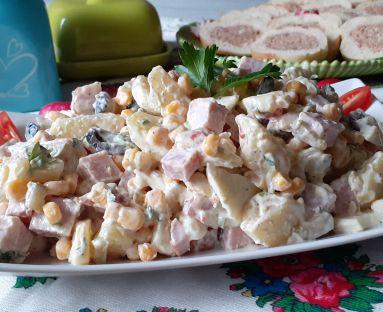 Sałatka ziemniaczana z sosem tatarskim