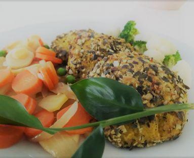 Kotlety jaglane ziołowo-serowe