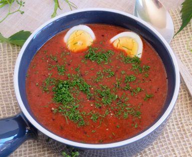 Zupa botwinkowa z kaszą jaglaną