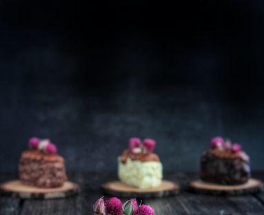 Karmelowo-różane monoporcje