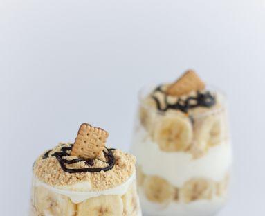 Szybki deser śmietankowo bananowy z ciasteczkami