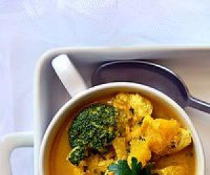 Dyniowo brokułowe curry z kurczaka