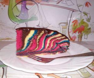Ciasto Kolorowa Zebra Przyslijprzepis Pl