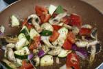 Spagetti z polędwiczkami wieprzowymi i warzywami