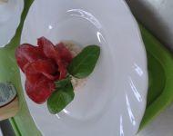 Róża z salami
