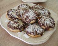 Ciasteczka żytnio - kokosowe w czekoladzie