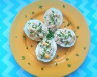 Jajka faszerowane selerem i szynką
