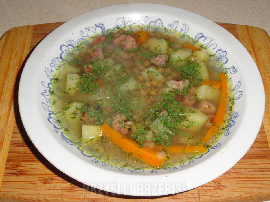 Zupa Z Zielonej Soczewicy A La Grochowka Przyslijprzepis Pl