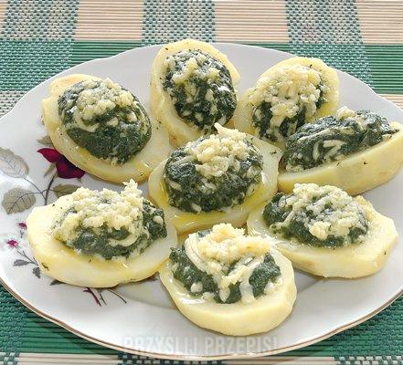 Ziemniaki Faszerowane Szpinakiem Przyslijprzepispl