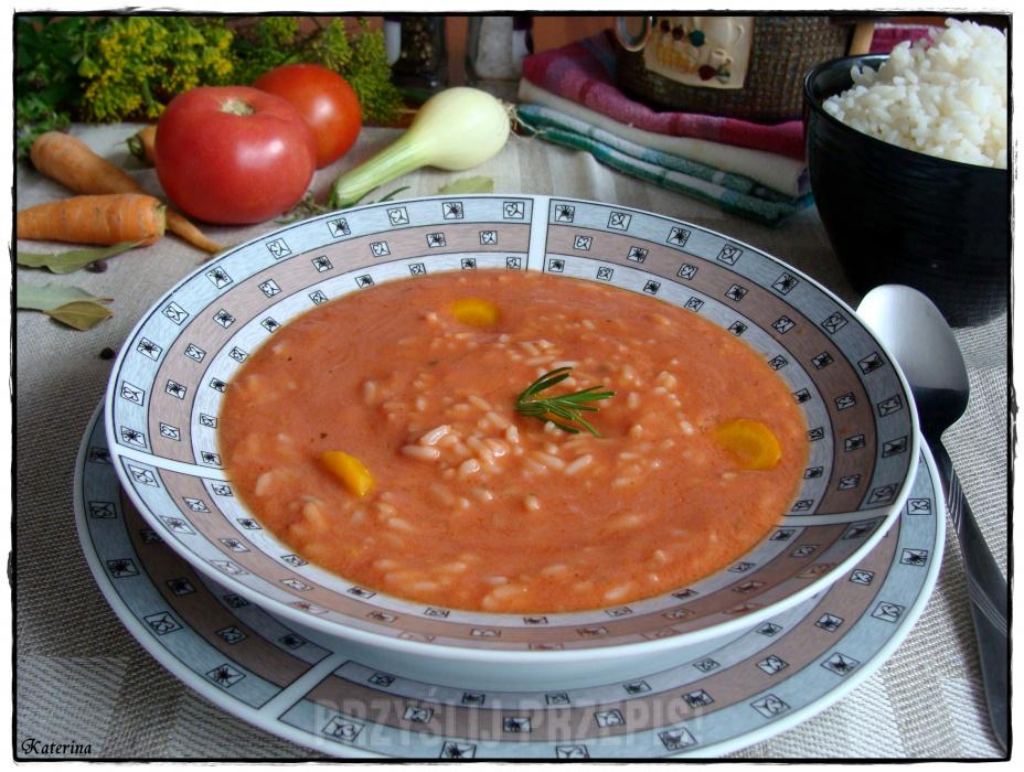 Gęsta Zupa Pomidorowa Z Ryżem Przyslijprzepispl