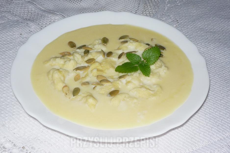Zupa Mleczna Z Dyni Z Kluseczkami