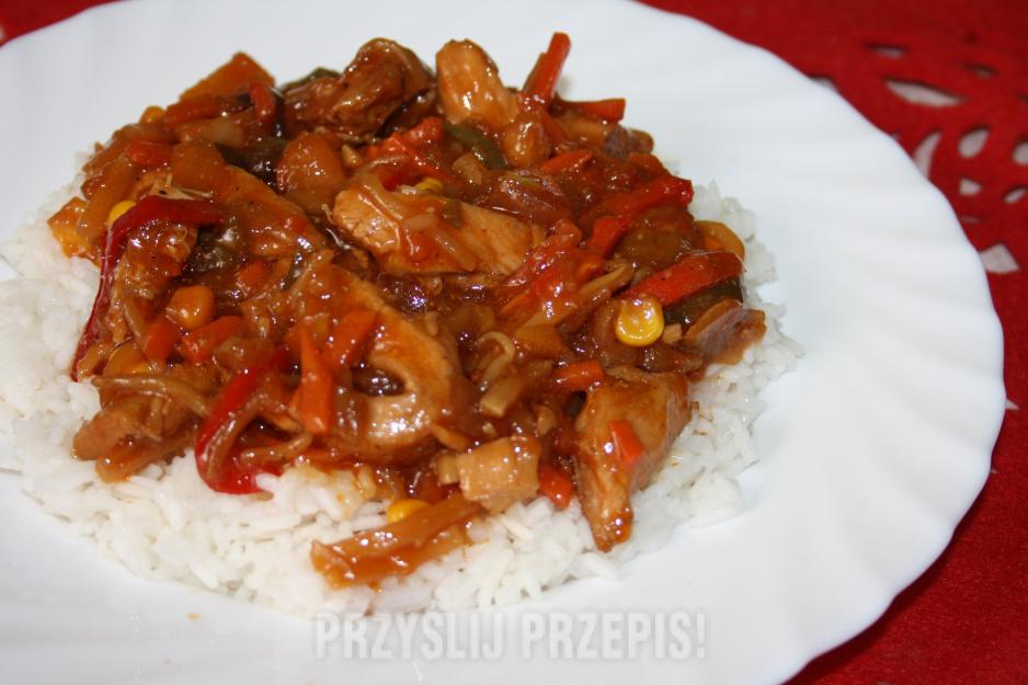 Pierś Kurczaka Z Warzywami Po Chińsku