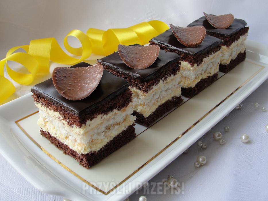Ciasto Czekoladowo Kokosowe Z Kremem Przyslijprzepis Pl
