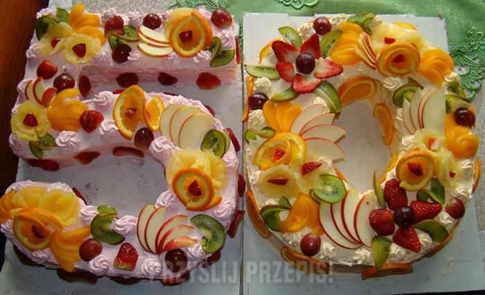 Tort śmietankowy Na 50 Urodziny Przyslijprzepispl
