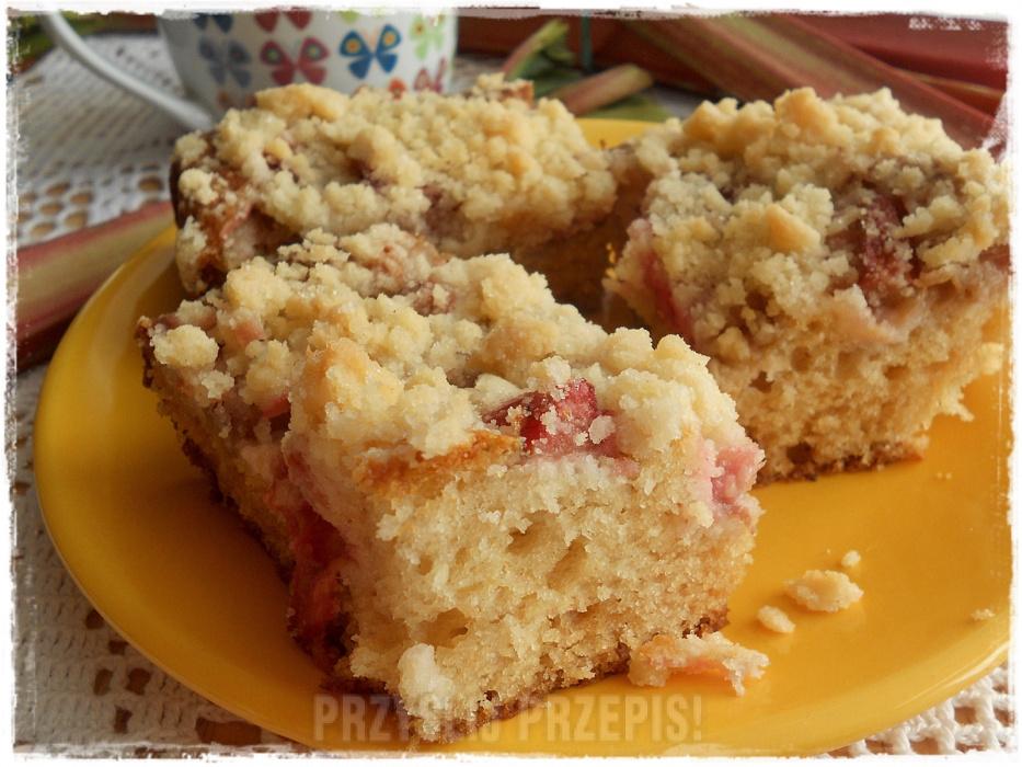 Ciasto Jogurtowe Z Rabarbarem I Kruszonka Przyslijprzepis Pl