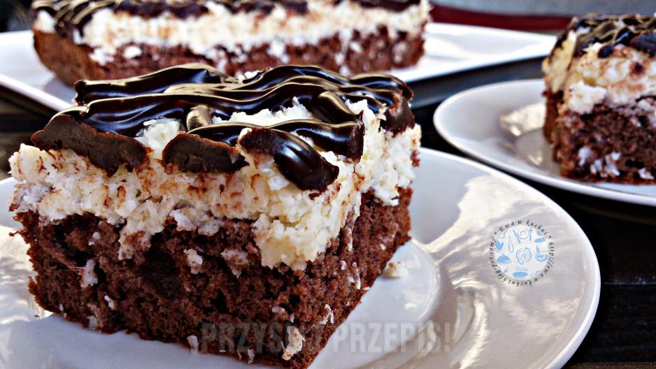 Ciasto Czekoladowo Kokosowe Przyslijprzepis Pl