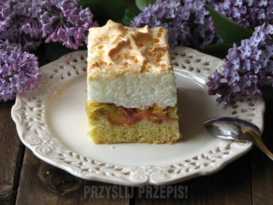 Ciasto Z Rabarbarem I Beza Przyslijprzepis Pl