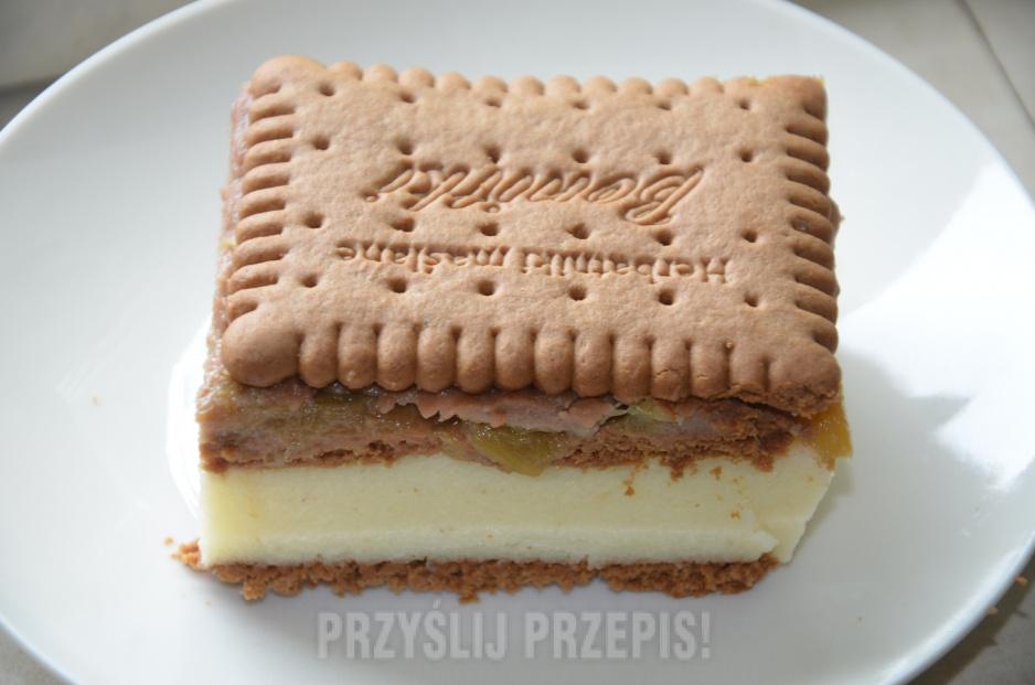 Ciasto Z Rabarbarem Na Herbatnikach Przyslijprzepis Pl