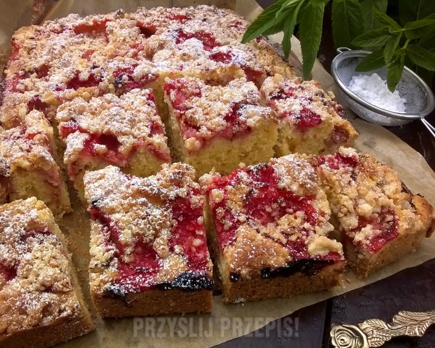Ciasto Piaskowe Z Truskawkami Przyslijprzepis Pl