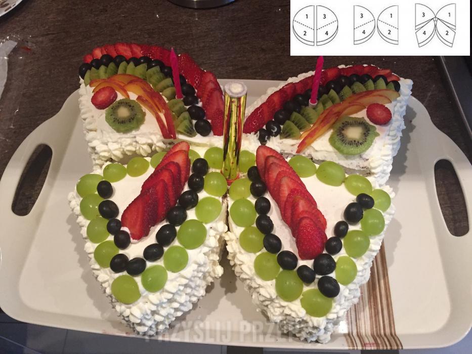 1cbdbfe5883c90 Tort Motyl - PrzyslijPrzepis.pl