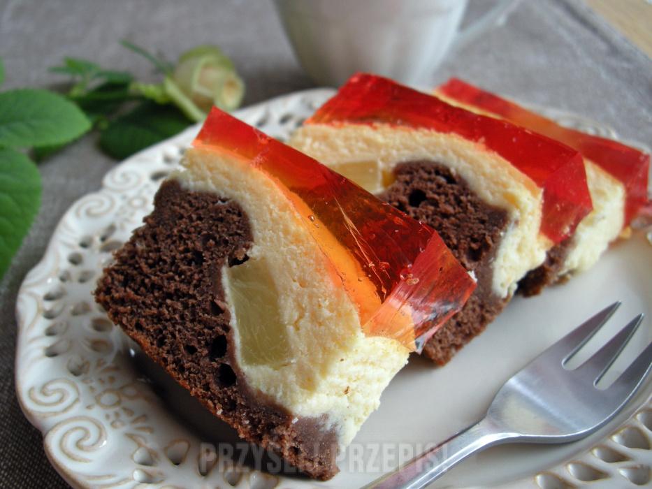 Ciasto Serowy Laciatek Z Ananasem I Galaretka Przyslijprzepis Pl