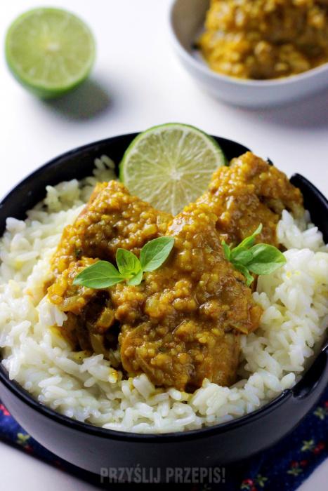 Skrzydelka Z Kurczaka W Sosie Curry Kuchnia Indyjska