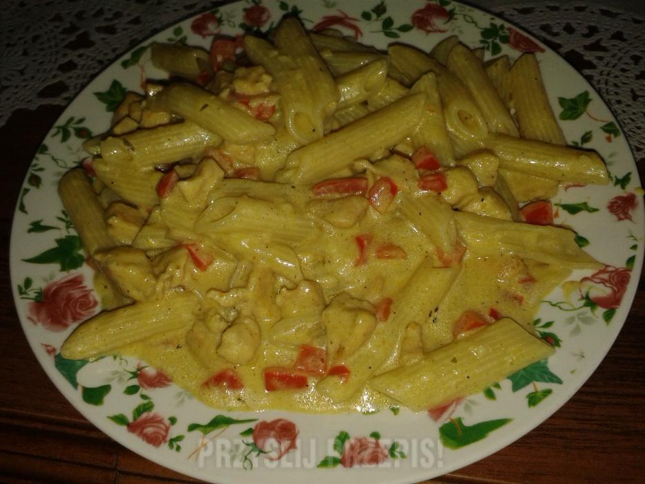 Makaron Rurki W Sosie Curry