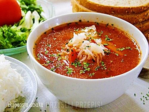 Zupa Pomidorowa Z Ryżem Na Bulionie Przyslijprzepispl