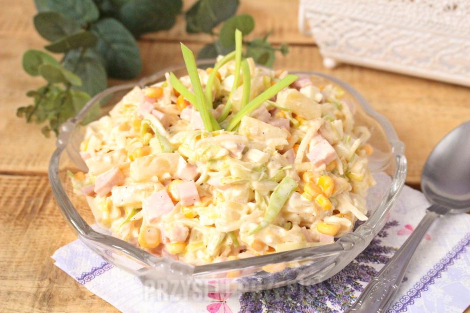 Salatka Z Szynka I Porem Przyslijprzepis Pl
