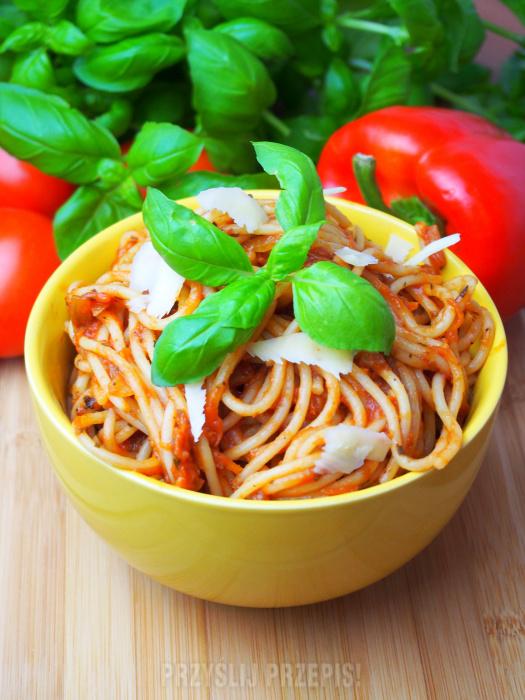 Pomidorowe Spaghetti Bez Miesa Przyslijprzepis Pl