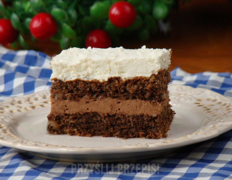 Ciasto Orzechowe Z Kremem Czekoladowo Kokosowym Przyslijprzepis Pl