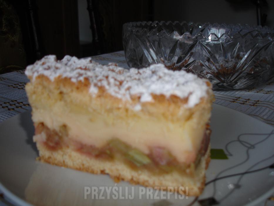 Ciasto Kremowe Z Rabarbarem Przyslijprzepis Pl