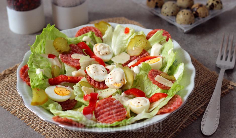 Salatka Z Jajkami Przepiorki Przyslijprzepis Pl