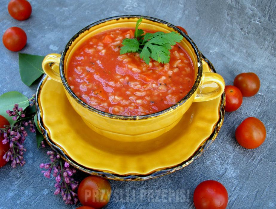 Zupa Pomidorowa Z Ryżem Przyslijprzepispl