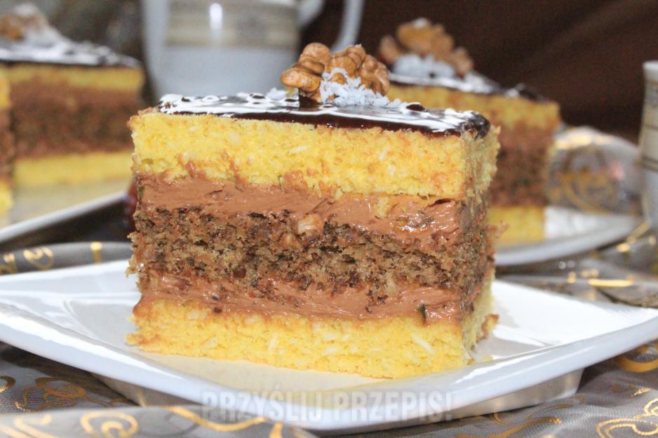 Ciasto Kokosowo Orzechowe Z Masa Truflowa Przyslijprzepis Pl