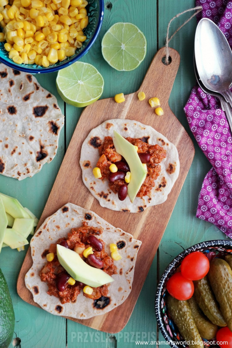 Domowe tacos z chili con carne