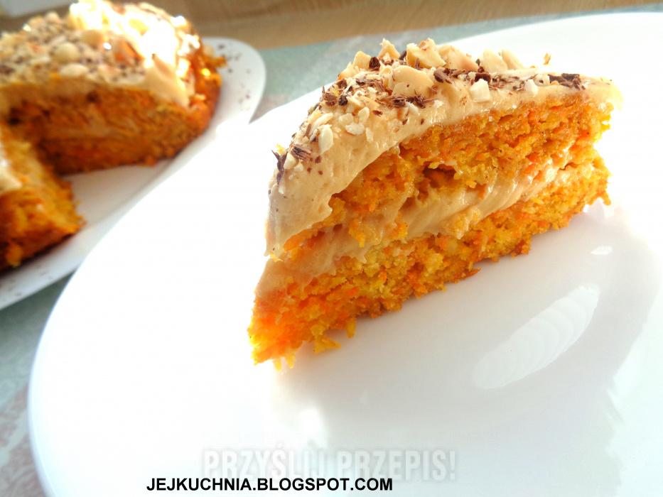 Ciasto Marchewkowe Z Kremem Orzechowym Przyslijprzepis Pl