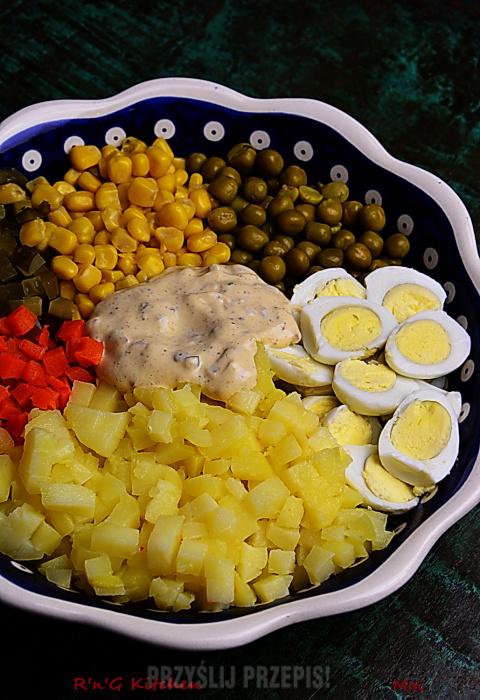 Salatka Warzywna Z Jajkami Przepiorczymi Przyslijprzepis Pl