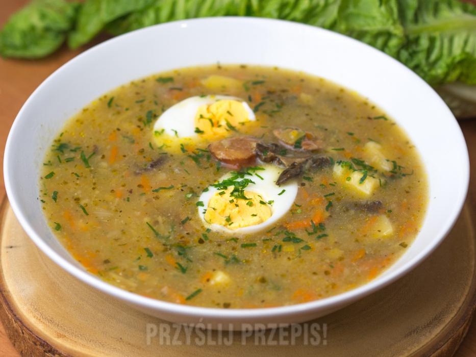 Zupa Grzybowa Z Suszonych Grzybow Z Jajkiem