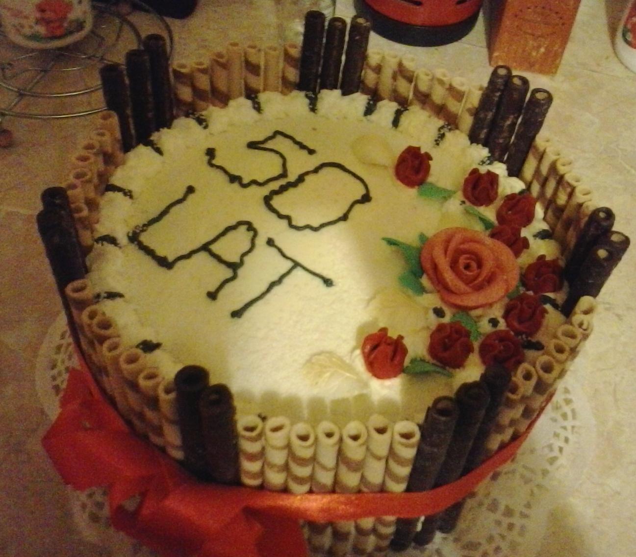 tort urodzinowy 50tka przyslijprzepispl