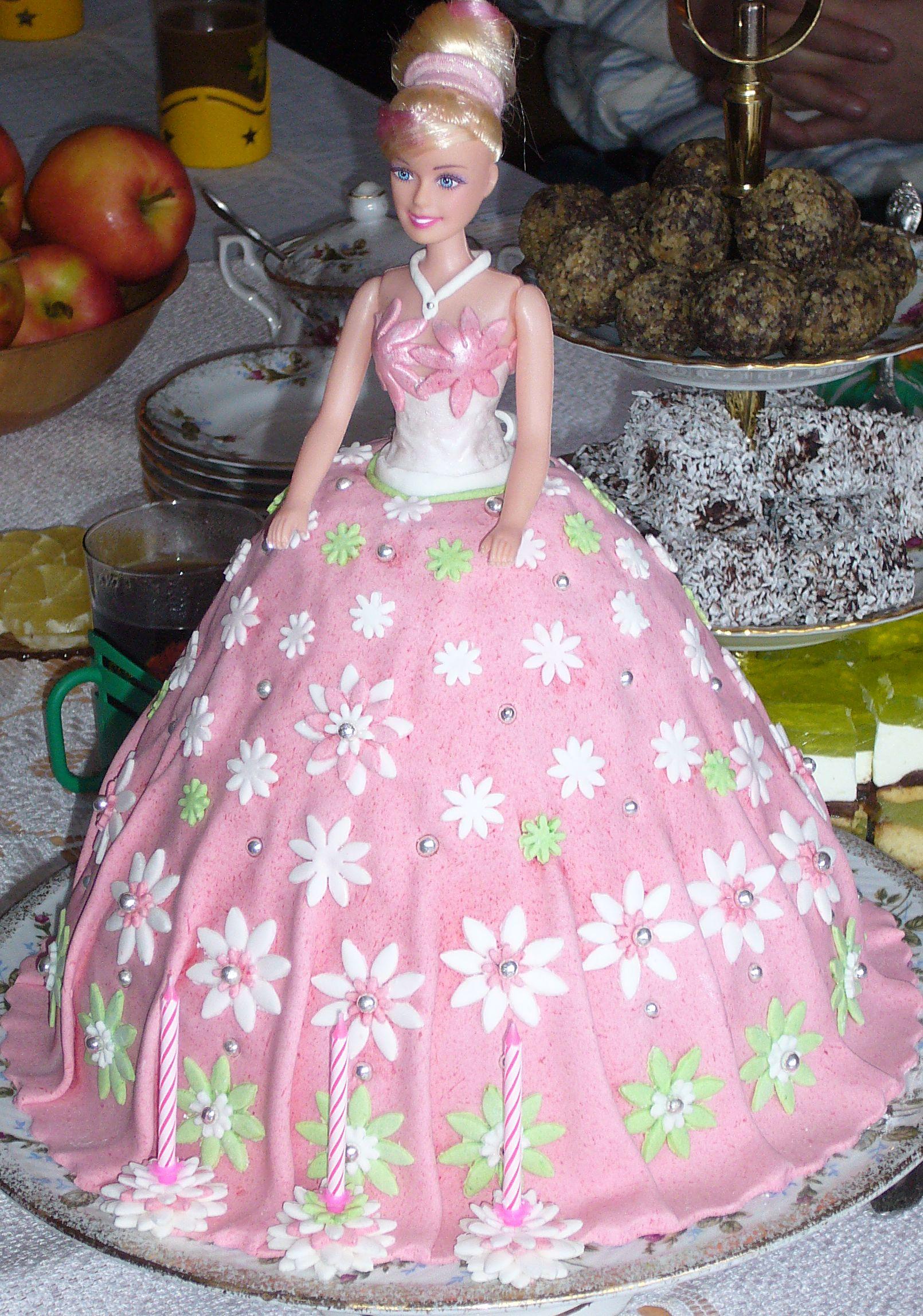 tort lalka barbie przyslijprzepispl