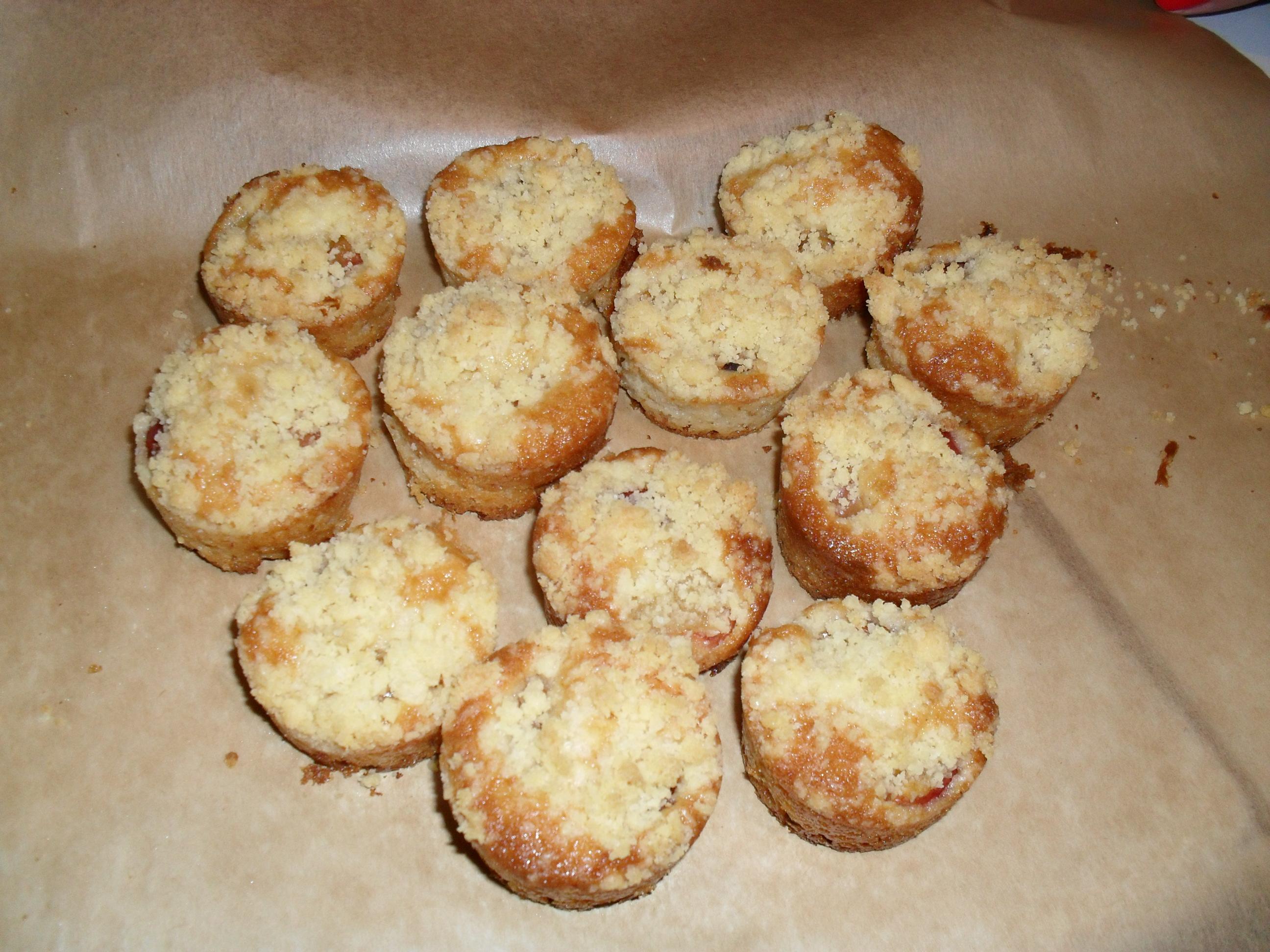 Muffinki Z Czeresniami I Kruszonka Przyslijprzepis Pl