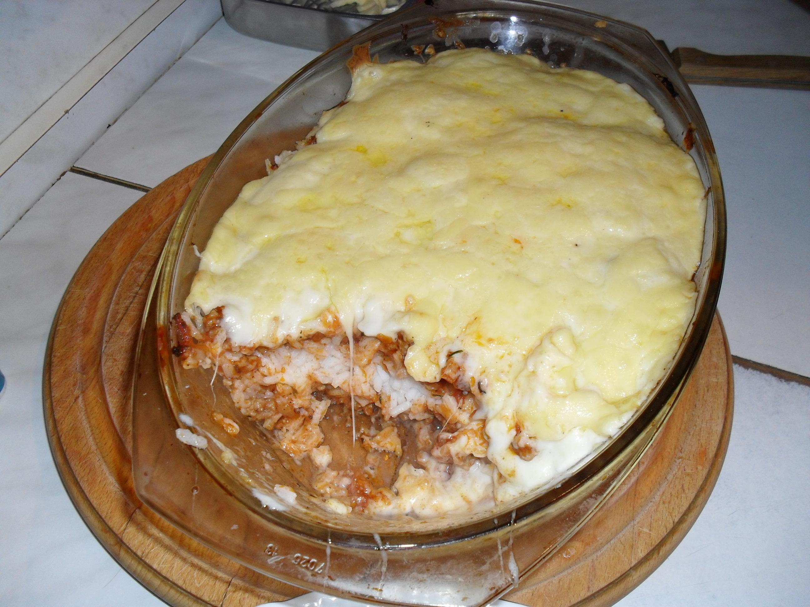 zapiekanka ryżowa z mięsem mielonym przyslijprzepispl